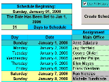 Create Floor Schedules for Your Employees