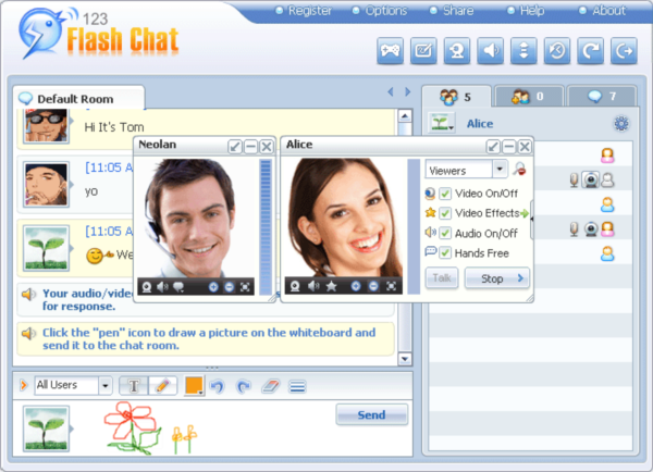 free live chat online social sign